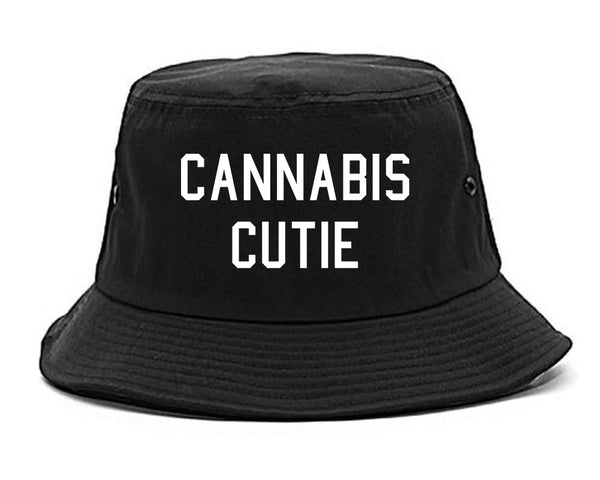 Cannabis Cutie Bucket Hat Black