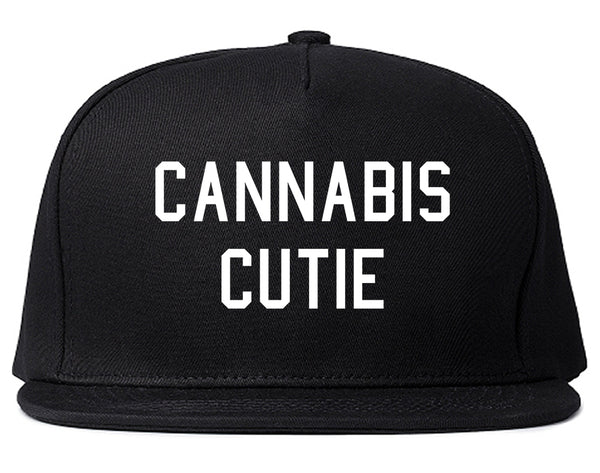 Cannabis Cutie Snapback Hat Black
