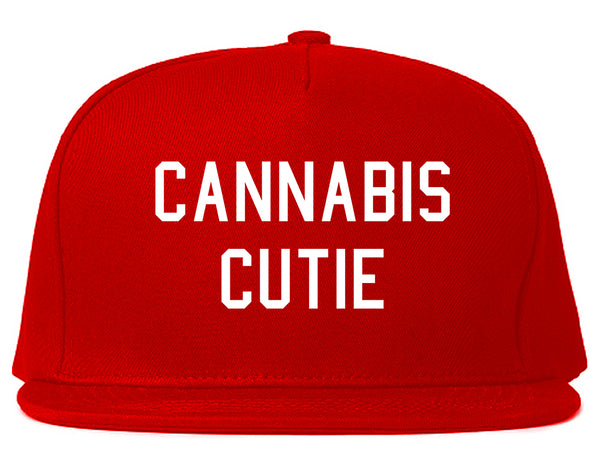 Cannabis Cutie Snapback Hat Red