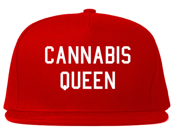 Cannabis Queen Snapback Hat Red