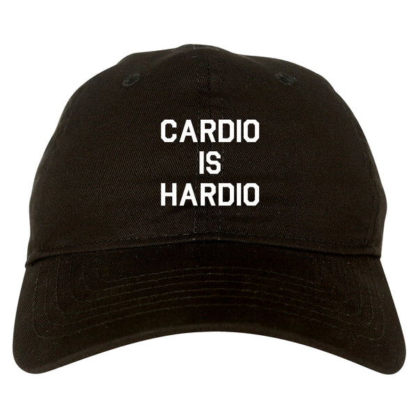 Cardio Is Hardio Funny Workout black dad hat