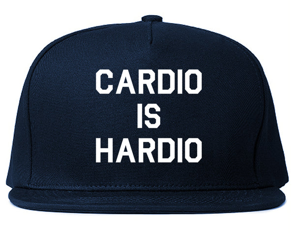 Cardio Is Hardio Funny Workout Blue Snapback Hat