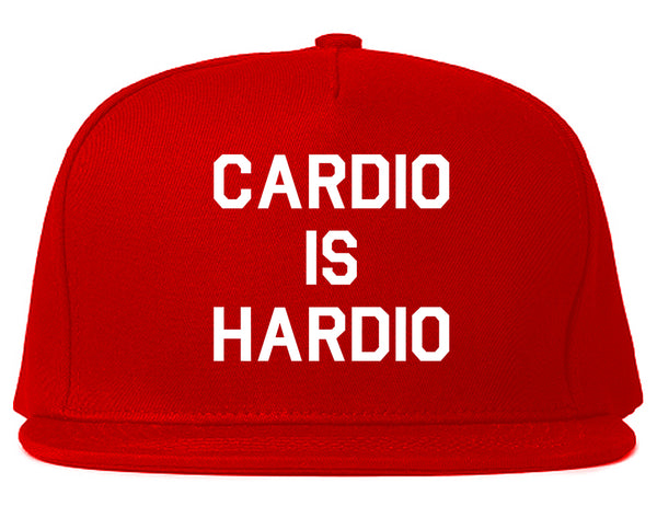 Cardio Is Hardio Funny Workout Red Snapback Hat
