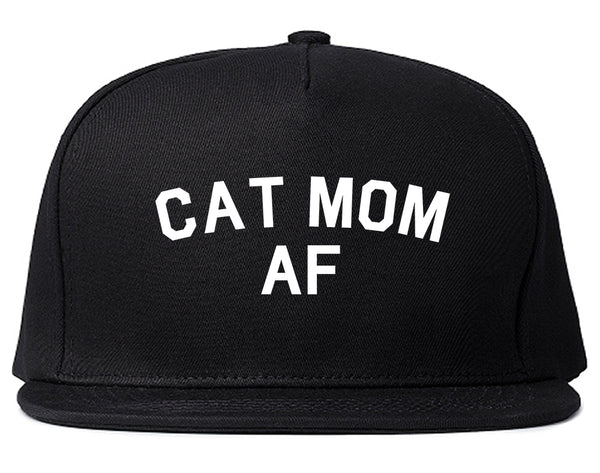 Cat Mom AF Pet Lover Mother Snapback Hat Black
