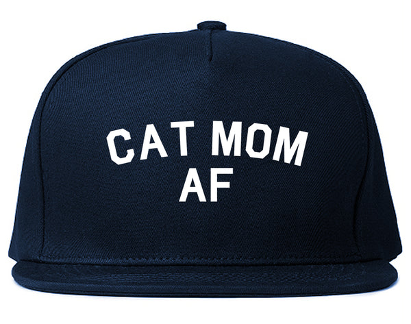 Cat Mom AF Pet Lover Mother Snapback Hat Blue