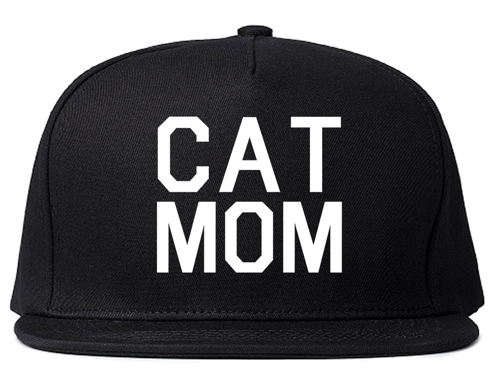 Cat Mom Cat Mother Black Snapback Hat