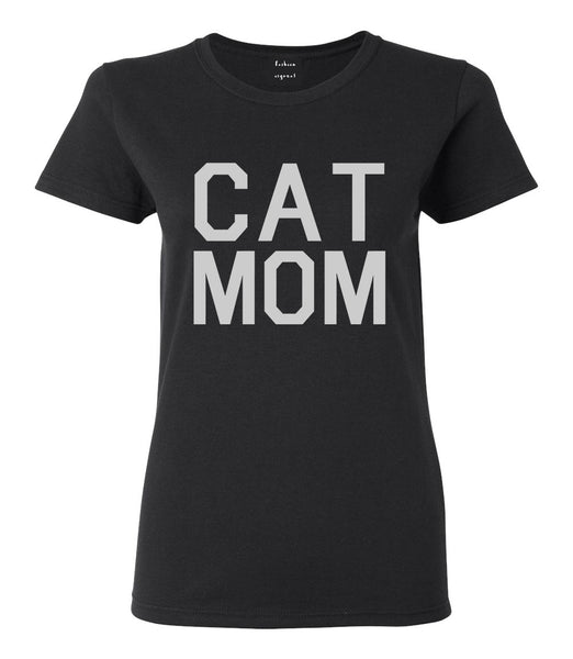 Cat Mom Cat Mother Black T-Shirt