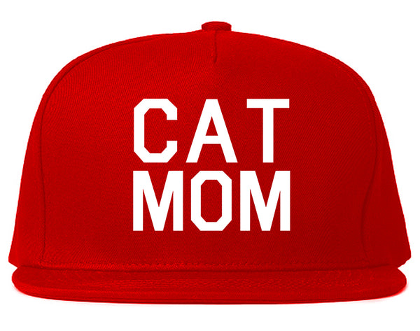 Cat Mom Cat Mother Red Snapback Hat