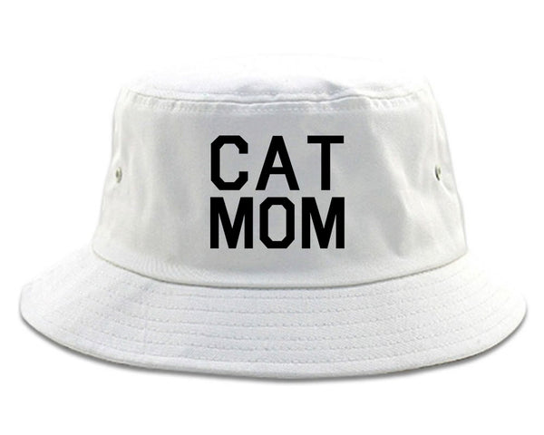 Cat Mom Cat Mother White Bucket Hat