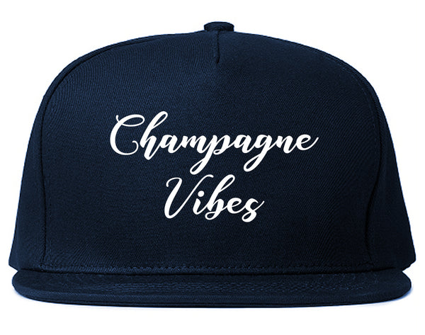 Champagne Vibes Only Blue Snapback Hat