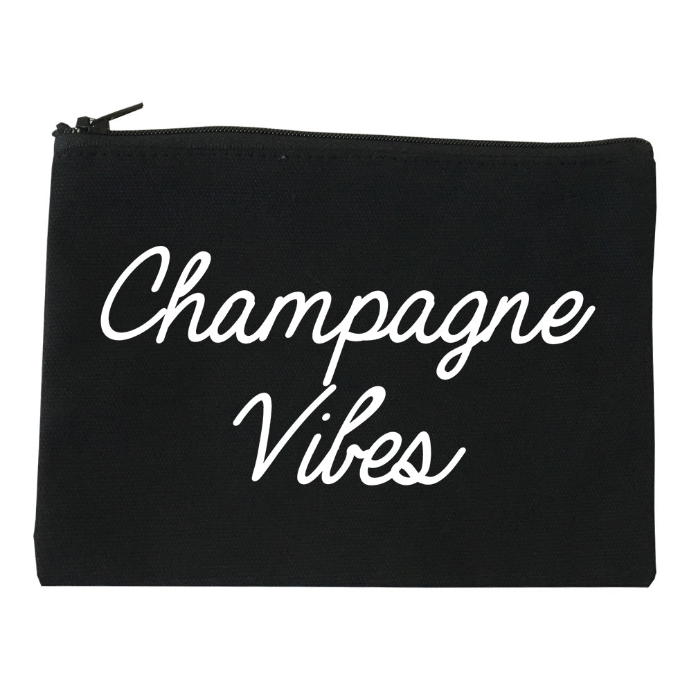Champagne Vibes Wedding Chest black Makeup Bag