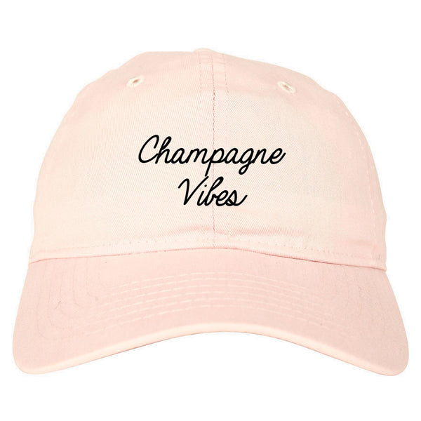 Champagne Vibes Wedding Chest pink dad hat
