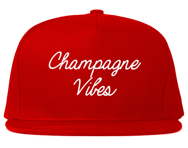 Champagne Vibes Wedding Chest Red Snapback Hat