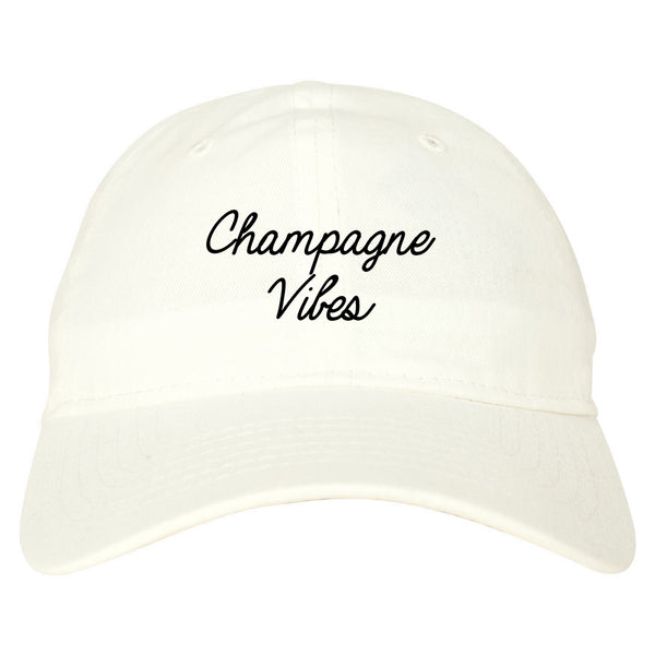 Champagne Vibes Wedding Chest white dad hat
