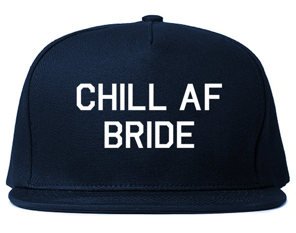 Chill AF Bride Wedding Blue Snapback Hat