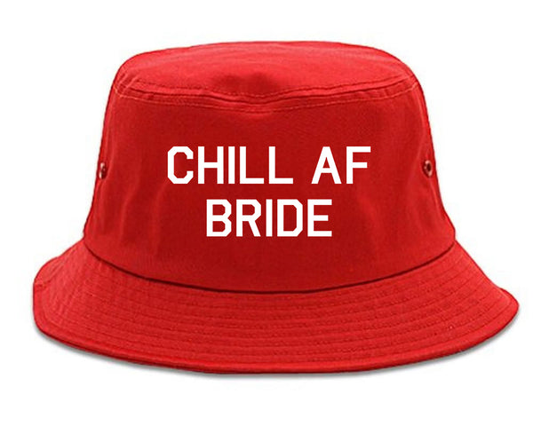 Chill AF Bride Wedding red Bucket Hat