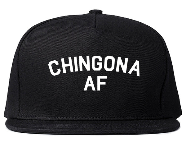 Chingona AF Spanish Slang Mexican Snapback Hat Black