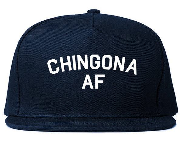 Chingona AF Spanish Slang Mexican Snapback Hat Blue