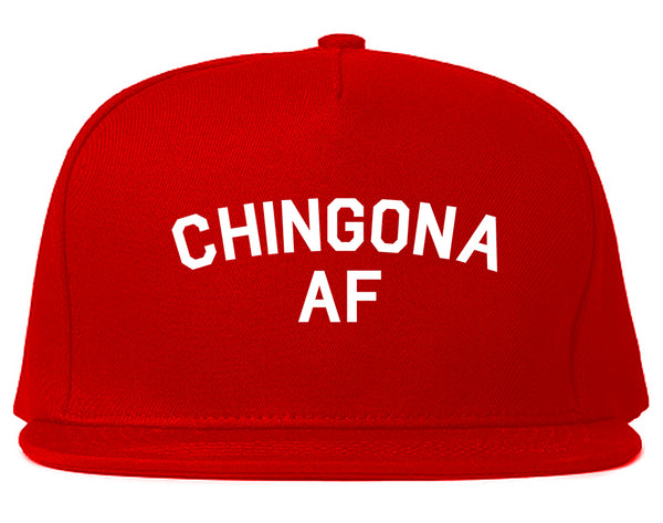 Chingona AF Spanish Slang Mexican Snapback Hat Red