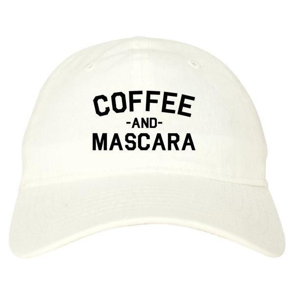 Coffee And Mascara White Dad Hat