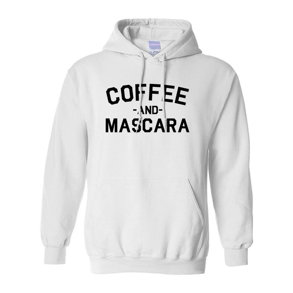 Coffee And Mascara White Pullover Hoodie