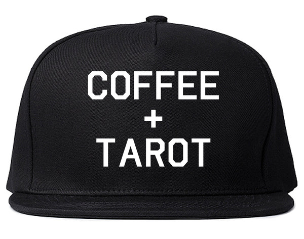 Coffee And Tarot Cards Black Snapback Hat