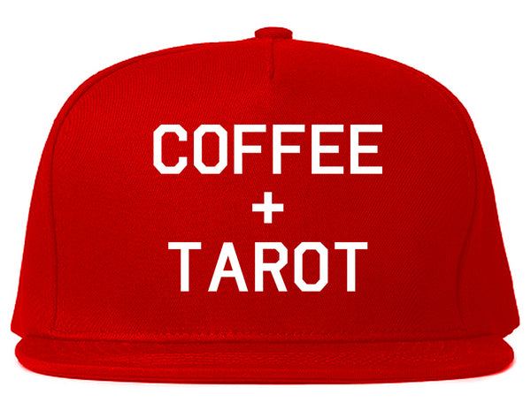 Coffee And Tarot Cards Red Snapback Hat