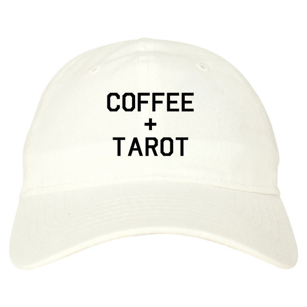 Coffee And Tarot Cards white dad hat