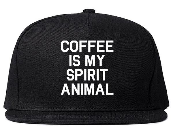 Coffee Is My Spirit Animal Black Snapback Hat