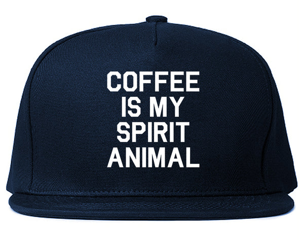 Coffee Is My Spirit Animal Blue Snapback Hat