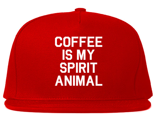 Coffee Is My Spirit Animal Red Snapback Hat