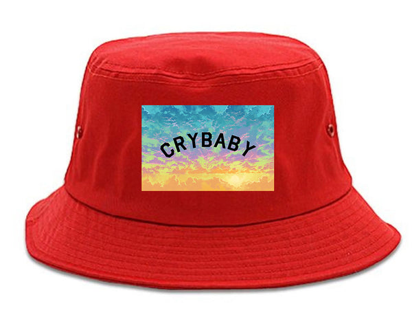 Crybaby Tie Dye Box red Bucket Hat