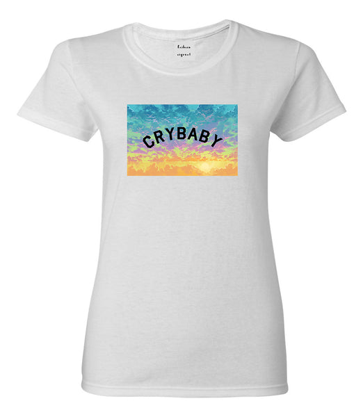 Crybaby Tie Dye Box White Womens T-Shirt