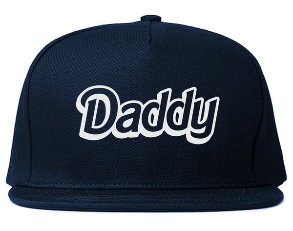 Daddy Pink Snapback Hat Blue