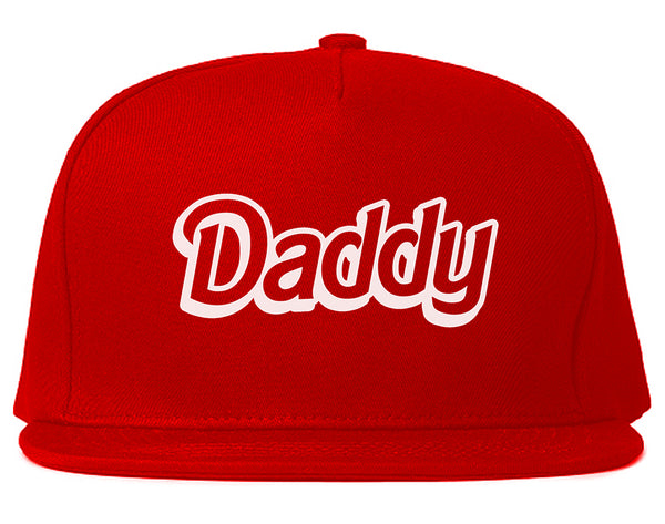 Daddy Pink Snapback Hat Red