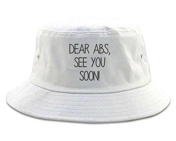 Dear Abs See You Soon White Bucket Hat