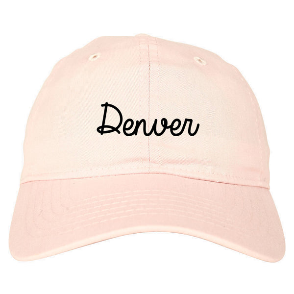 Denver Colorado Script Chest pink dad hat