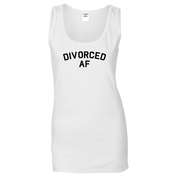 Divorced AF Divorce Break Up White Tank Top