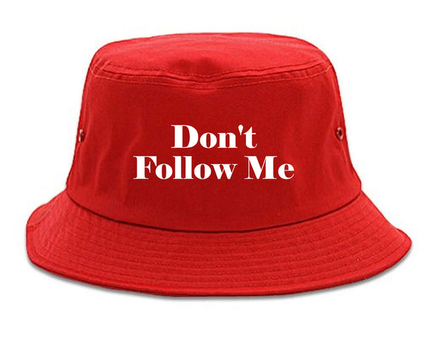 Dont Follow Me Funny red Bucket Hat