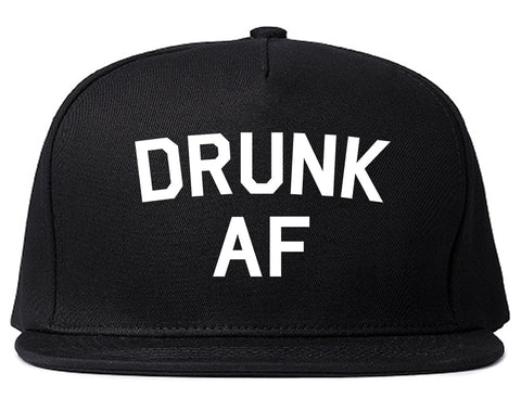 Drunk AF Bachelorette Party Snapback Hat Black