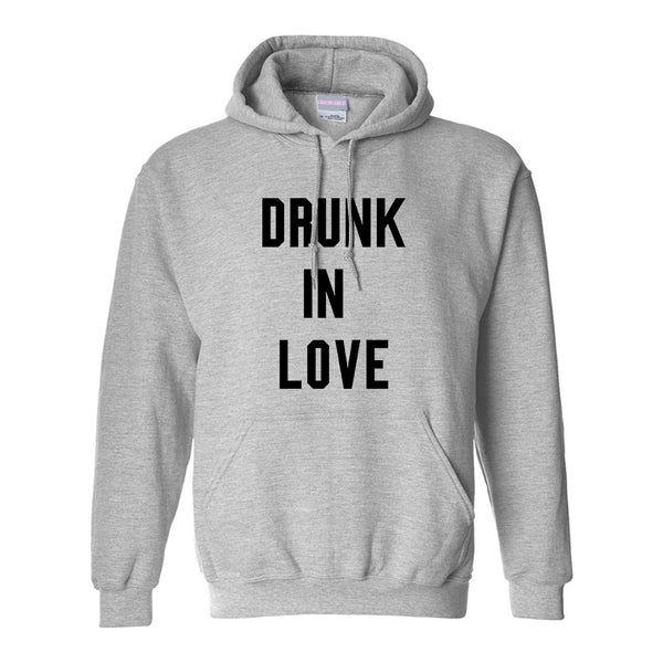 Drunk In Love Bachelorette Grey Womens Pullover Hoodie