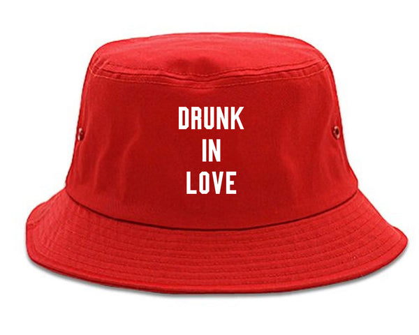 Drunk In Love Bachelorette red Bucket Hat