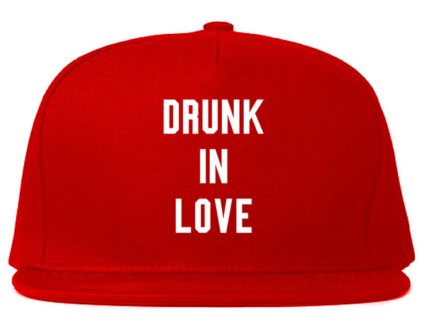 Drunk In Love Bachelorette Red Snapback Hat