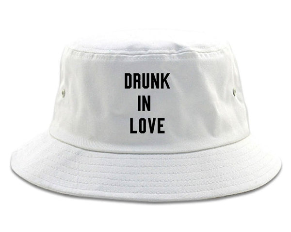 Drunk In Love Bachelorette white Bucket Hat