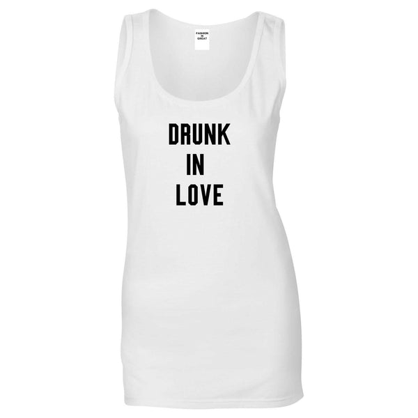 Drunk In Love Bachelorette White Womens Tank Top