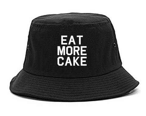 Eat More Cake Birthday Black Bucket Hat