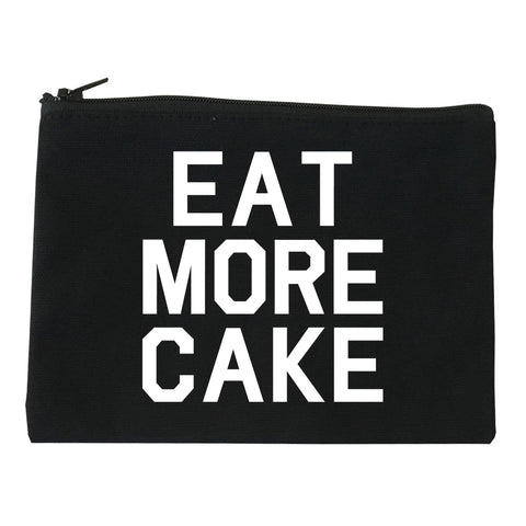 Eat More Cake Birthday Black Makeup Bag