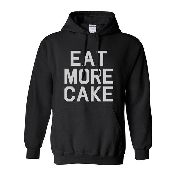 Eat More Cake Birthday Black Pullover Hoodie