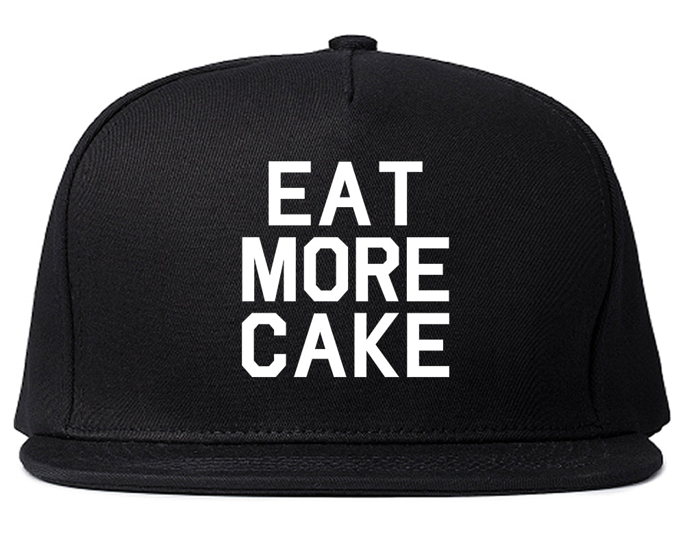 Eat More Cake Birthday Black Snapback Hat