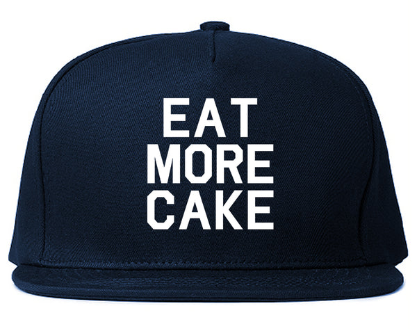 Eat More Cake Birthday Blue Snapback Hat